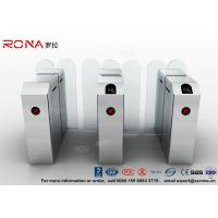 Buy cheap Fastlane Turnstile Remote Control Access Control Turnstiles Tempered Glass Sliding product