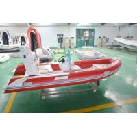 Buy cheap 4.8m Semi - Rigid FRP Foldable Inflatable Boat Inflatable Fishing Boats With Certificate product