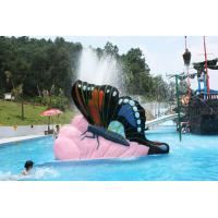 Multicolored Small Fiberglass Kids Butterfly Water Pool Slides Customized