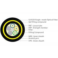 200M Span 12 Core Fiber Cable , Gel Filled Double Layer Loose Tube Fiber Cable