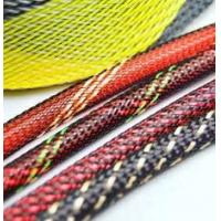 Buy cheap Electrical PET Expandable Braided Sleeving Network Sheath For Wire Protection product