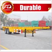 2 axle or 3 axle 20ft 40ft Skeleton Semi Trailer container chassis trailer for sale