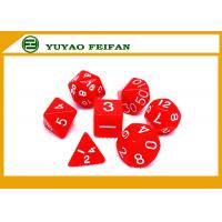 Buy cheap Poker Accessories White / Solid 4 6 8 10 12 Polyhedral Dice Set , Custom 20 Sided Dice product
