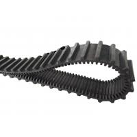 China Black Toy Rubber Tracks Width 96 Pitch 12.55 Links 50 For Robot / Wheelchair on sale