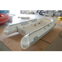 Buy cheap 390cm Semi - Rigid Inflatable RIB Boats Fiberglass Hull Light Grey Color product