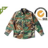 Buy cheap Woodland Camo Tactical Combat Shirt With Hidden Pencil Pockets Long Sleeve product