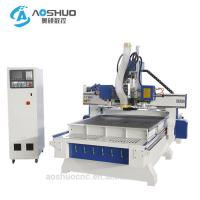 China Automatic Two Heads Cnc Wood Engraving Machine With Drilling Sets 1300*2500*200mm on sale
