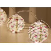Buy cheap Flower Battery Operated Paper Lantern String Lights 7.5 Cm Energy Saving Led Party Decor product