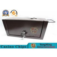 Buy cheap Large Cash Slot Casino Accessories Metal Cash Money Box With Locks / Lockable Money Tin product