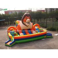 Buy cheap Custom Outdoor Huge Super Lion Inflatable Games Playground For Kids product