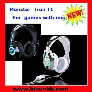 Buy cheap Wholesale cheap Black/white Tron T1 monster beats headphones by beats dr dre product