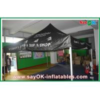 China Black Outdoor Folding Tent  , Giant Waterproof Tent With Aluminum Frame on sale