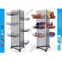 Buy cheap Wire Mesh Gridwall Display Racks Fixtures Triangle Unit With Bulk Baskets product