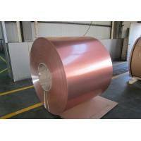 Buy cheap 18 / 25 Micron Color Coated Aluminum Coil High Glossy Single / Double Coating product