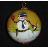 China Custom inner hand painted christmas ball,custom inner hand painted glass ball on sale