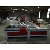 Buy cheap Stone cnc router machine , cnc granite router with 4 spindle and rotary , cast iron bed product