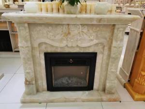 Buy cheap Customized Decorative Onyx Stone Marble Fireplace Surround product