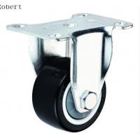 Buy cheap Durable Trolley Polyurethane Roller Wheels , Spring Loaded Casters For Machines product