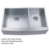 Buy cheap stainless steel double bowl deep kitchen sink with strainer best quality sink product