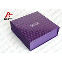 Buy cheap UV Varnish Automatic Purple Gift Foldable Paper Boxes With Lids product