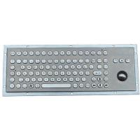 Stainless Steel Keyboard with Trackball (X-BP921B-S)