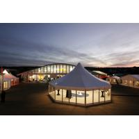 Buy cheap Hard Glass Walls Outdoor Event Clear Span Tent , Hexagon Canopy Party Tent product