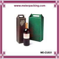 Buy cheap Wine paper cardboard packaging box with paper handle ME-CU031 product