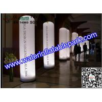 China Colorful Inflatable Decoration LED Light Column Ripstop Fabric on sale