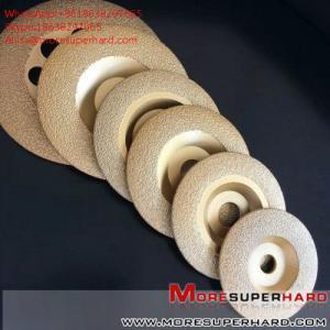 China Vacuum brazing diamond abrasive disc  Alisa@moresuperhard.com on sale