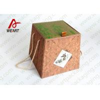 Buy cheap Bamboo Made Double Faced Foldable Paper Box For Food Products 24 X 24 X 8cm product