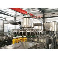 Buy cheap PLC Washing Capping Juice Bottle Filling Machine 3 Phase For 500ML Plastic Bottles product