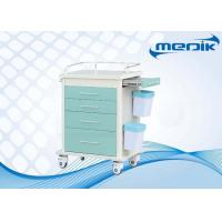 Buy cheap All Drawers Design ABS Hospital Trolley With Defibrillator shelf product