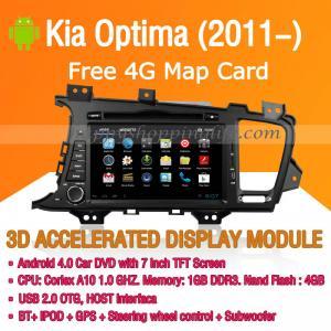 Buy cheap Android Car DVD Player GPS Navigation Wifi 3G for Kia Optima 2011 2012 2013 product