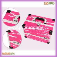 Buy cheap Pink snake skin pu surface aluminum beauty train case (SACMC014) product