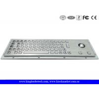 China Panel Mount Brushed Metal Industrial Keyboard With Trackball And 64 Keys on sale