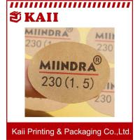 Buy cheap Yellow Kraft Printed Lables And Stickers / Round Stickers / Make Your Own from wholesalers