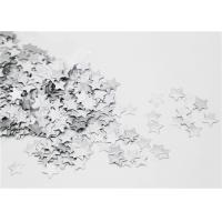 Buy cheap Paper Gummed Stars Silver Decoration Single Side Collages FSC Standard product