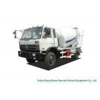 Buy cheap Industrial 4x2 / 4x4 Mobile Concrete Agitator Truck 6 Cbm With 3 Seater product