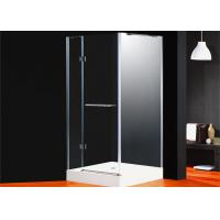 Buy cheap Corner Frameless Shower Enclosures Square Folding Glass Door For Bathroom product