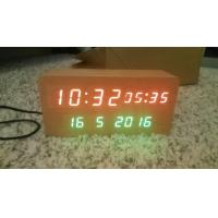 wood alarm azan clock quran speaker on table clock inside 8GB TF card English languages with IR control