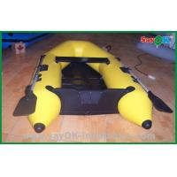 Buy cheap Heat Sealed Yellow PVC Inflatable Boats Lightweight Inflatable Boat product
