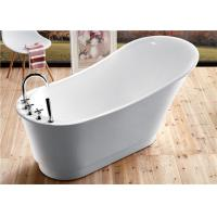 Buy cheap Classic Resin Acrylic Free Standing Bathtub With Faucet Oval Shaped product