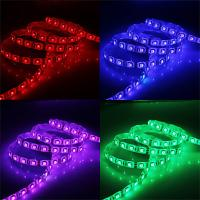China High luminous anti - moisture CE waterproof SMD 5050 dmx rgb led strip light with remote control on sale
