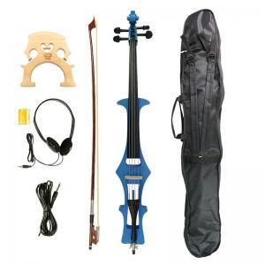 China 4/4 Electric Cello, Blue- Great Condition+Gig Bag & Cello Bow & Bridge & Rosin on sale