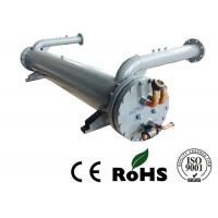Buy cheap Red Copper Tube Tubular Heat Exchanger , Double System Water Cooled Condenser product