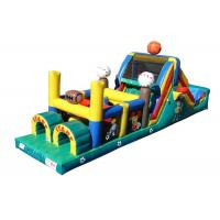 China Funny Basketball Inflatable Obstacle Courses For Rent , Moon Bounce Obstacle Course on sale