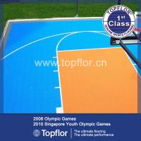 Buy cheap Multi-functional Modular Suspended Plastic Interlocking Sports Flooring product