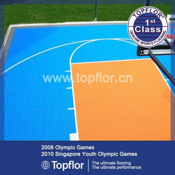 Quality Multi-functional Modular Suspended Plastic Interlocking Sports Flooring for sale