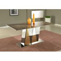 Buy cheap Luxury Office Furniture Marble Dining Tables Marble Top Contemporary Dining Tables from Wholesalers