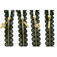 Buy cheap Decorative Heavy lace ror skirt Metal Zipper #5 closed-end colorful brass product
